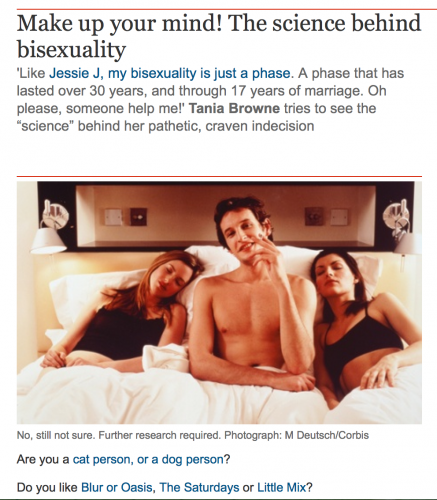 #BiWeek Day 3: The problem of triads for bisexuals